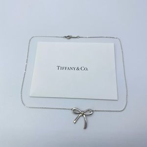 Tiffany & Co. Silver Classic Bow Necklace